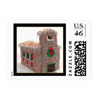 Gingerbread Church Postage - Small
