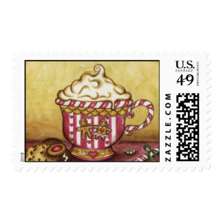 Gingerbread Coffee Postage Stamp