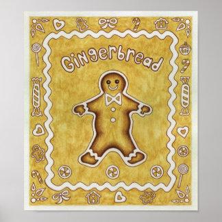Gingerbread Cookie Art Print Poster
