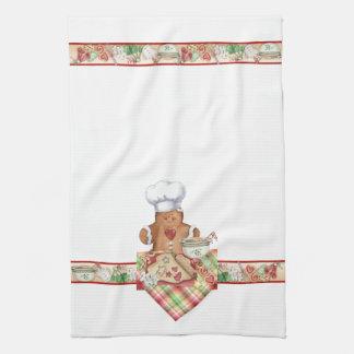 Gingerbread Cookie Baker Chef Kitchen Towel