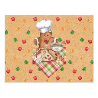 Gingerbread Cookie Baker Recipe Card