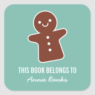 Gingerbread Cookie Bookplate