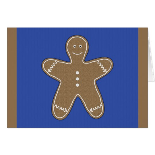 gingerbread cookie card