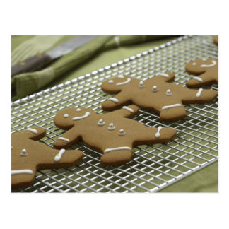 Gingerbread Cookie Christmas Cards and Stickers Postcard