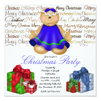Gingerbread Cookie Christmas gift Party Holiday In Card