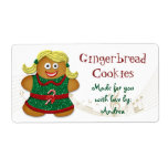Gingerbread Cookie Christmas Gift Tag Sticker Label