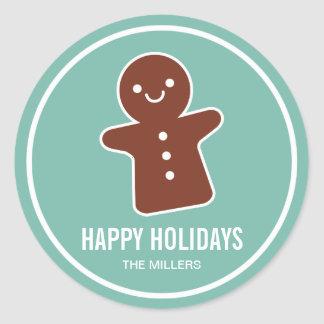 Gingerbread Cookie Classic Round Sticker