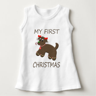 Gingerbread Cookie Dog Baby's First Christmas Tee Shirts