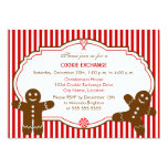 "Gingerbread Cookie Exchange Party Invitation 5"" X 7"" Invitation Card"