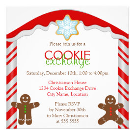 Gingerbread Cookie Exchange Party Invitation