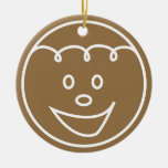 Gingerbread Cookie Face Ornament