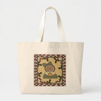 Gingerbread Cookie Girl Xmas Tote Bag