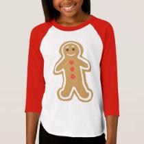 Gingerbread Cookie Girls' Raglan T-Shirt