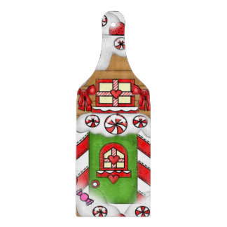 Gingerbread cookie glass cutting paddle cutting board