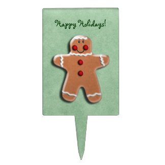 Gingerbread Cookie Green Cake Topper