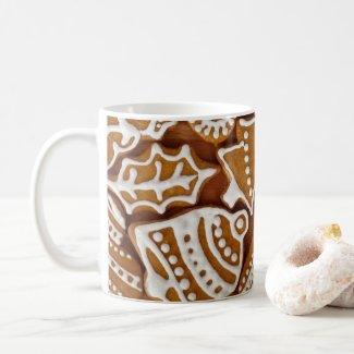Gingerbread cookie holiday coffee mug