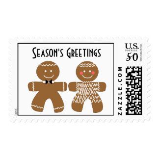Gingerbread Cookie Holiday Postage. Postage