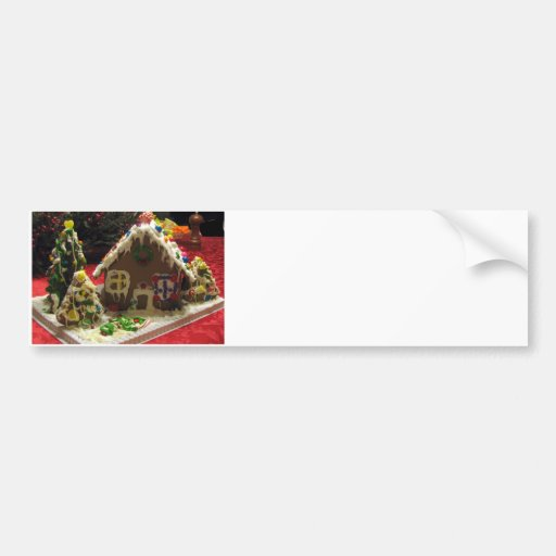 Gingerbread Cookie House Bumper Stickers