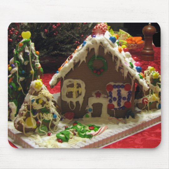 Gingerbread Cookie House Mouse Pad