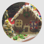 Gingerbread Cookie House Round Stickers