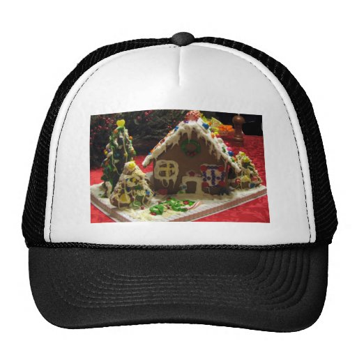 Gingerbread Cookie House Trucker Hat