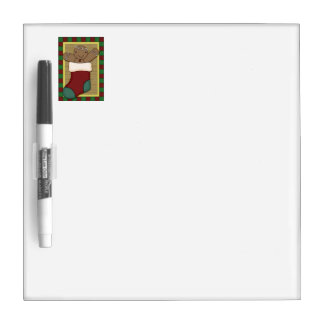 Gingerbread Cookie in Christmas Stocking Dry-Erase Board