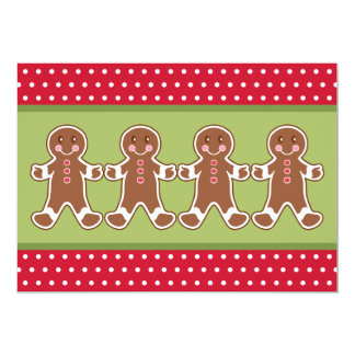 Gingerbread Cookie Invitations
