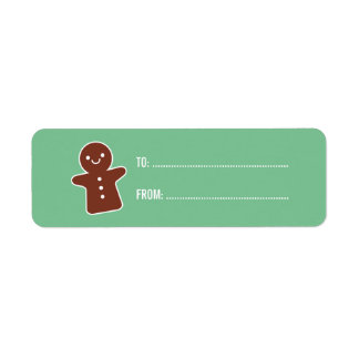 Gingerbread Cookie Label