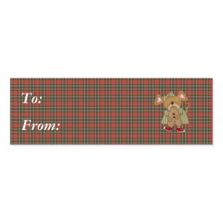 gingerbread cookie mouse business card