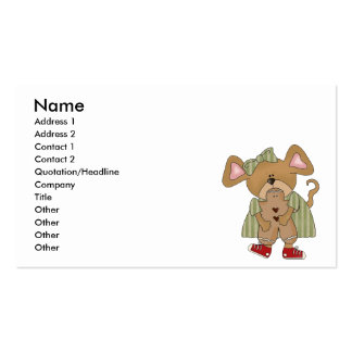 gingerbread cookie mouse business card template