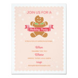 Gingerbread Cookie Party Invite