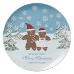 Gingerbread Cookie: Personalized Family: Christmas Plates