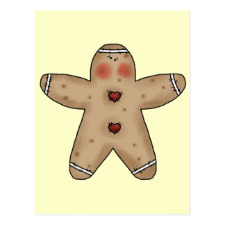 Gingerbread Cookie Postcard