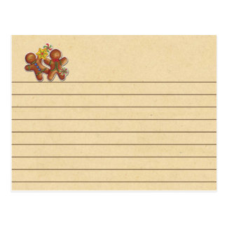 Gingerbread Cookie Recipe Card Postcard
