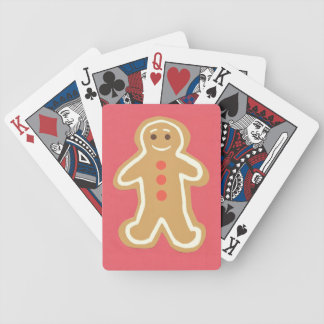 Gingerbread Cookie Red Playing Cards Bicycle Playing Cards