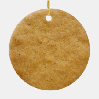 Gingerbread cookie round shaped - cinnamon ceramic ornament