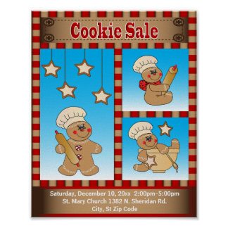 Gingerbread Cookie Sale | Customize Poster