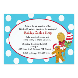 Gingerbread Cookie Swap Invitation