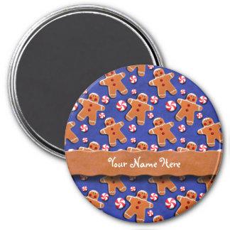 Gingerbread Cookies Candies Blue Magnet