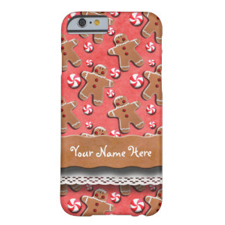 Gingerbread Cookies Candies Red Barely There iPhone 6 Case