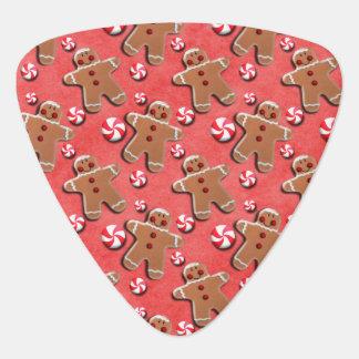 Gingerbread Cookies Candies Red Guitar Pick