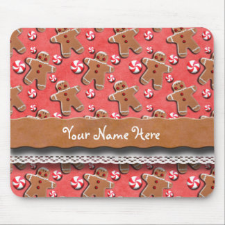 Gingerbread  Cookies Candies Red Mouse Pad
