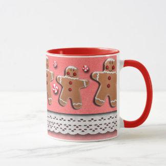 Gingerbread Cookies Candies Red Mug