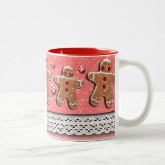 Gingerbread  Cookies Candies Sprinkles Red Two-Tone Coffee Mug