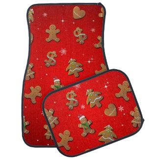 Gingerbread Cookies Cartoon Car Floor Mat