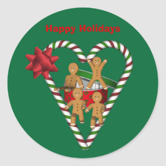 Gingerbread Cookies Christmas Holiday Classic Round Sticker