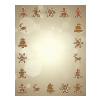 Gingerbread Cookies - Christmas Letterhead