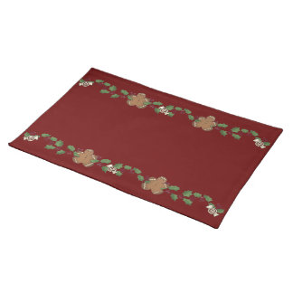 Gingerbread Cookies Cloth Placemat