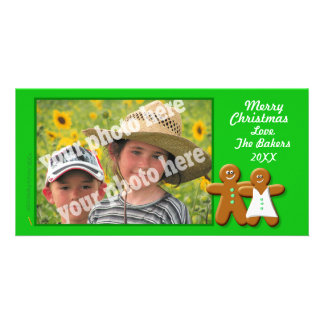 Gingerbread Cookies Couple Photo Card Template
