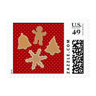 gingerbread cookies festive winter holidays stamps